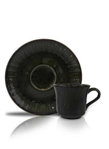 Acar Seda Yeşil 6'Lı Türk Kahvesi Fincanı Yeşil